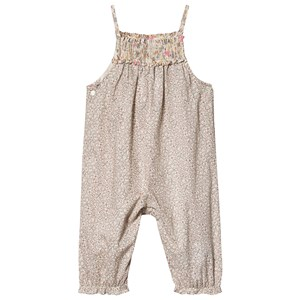 Bonpoint Floral Liberty Smock Jumpsuit Pink/Off White 6 months