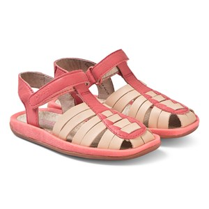 Camper Coral and Tan Leather Bicho Sandals 33 (UK 1)