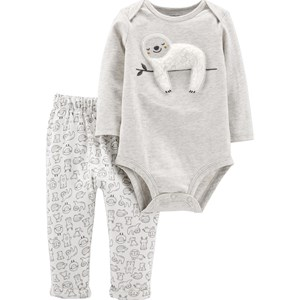 Carter's 2-Piece Sloth Baby Body Pant Set Newborn