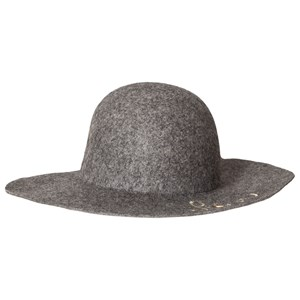 Chloé Grey Love Embroidered Wool Hat 56 (12 years)