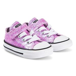 Converse Sparkly Chuck Taylor Kids Sneakers Lilac Mist 20 (UK 4)