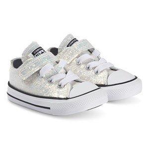 Converse Sparkly Chuck Taylor Kids Sneakers Wolf Grey 20 (UK 4)