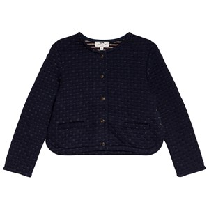 Cyrillus Navy Gold Quilted Cardigan 14 years