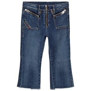 Diesel Mid Wash Zip Front Flared Jeans Blue 4 years