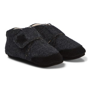 EnFant Felt Slippers Velcro Dark Grey 20 EU