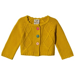 Frugi Carrie Cable Cardigan Mustard 4-5 years