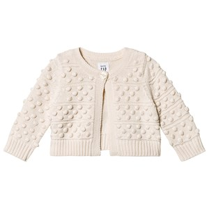 GAP Bobble Cardigan Ivory Frost 6-12 mdr