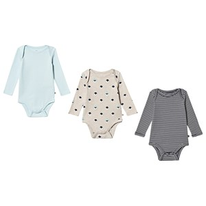 GAP Pack of 3 Baby Body Misty Aqua Penguin/Stripe 0-3 mdr