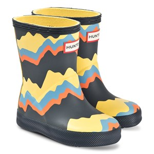 Hunter Kids First Classic Gummistøvler Storm Stripe/Navy 21 (UK 4)