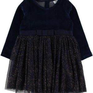 Hust and Claire X-Mas Kjole - Damini - Navy m. Guld