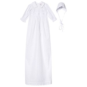 Jocko Christening Dress with Hat 120 cm White One Size