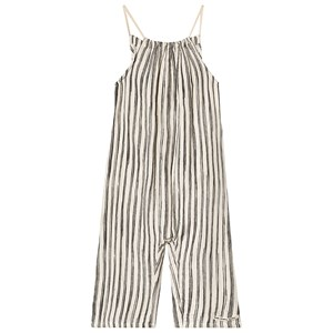 Little Creative Factory Bamboo Striped Jumpsuit Sort/Hvid 6 years