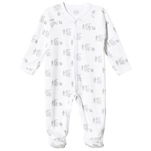Livly Animal Parade Simplicity Footed Baby Body White 6-9 Months