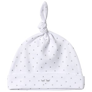 Livly Saturday Tossie Hat White/silver Dots 3-6 mdr
