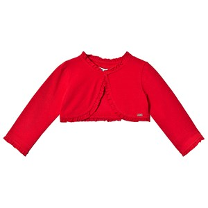 Mayoral Red Ruffled Cardigan 18 months