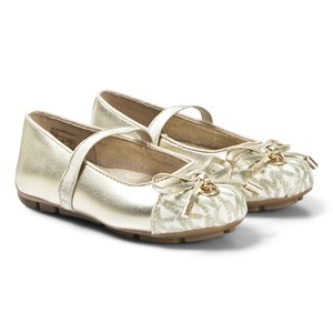 Michael Kors Shiny Logo Ballerina Pumps Guld 36 (UK 3)
