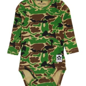 Mini Rodini Body l/æ - Camo - Grøn