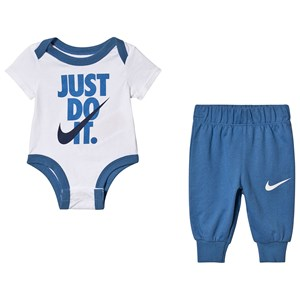 NIKE Just Do It Baby Body and Sweatpants Mountain Blue 3 months