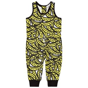 Stella McCartney Kids Yellow Bananas All Over Print Tee Jumpsuit 4 years