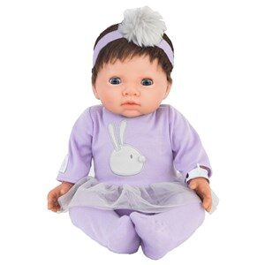 Tiny Treasure Doll Brown Hair Doll with Purple Outfit 3+ years