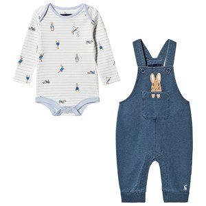 Tom Joule Peter Rabbit™ Overalls and Baby Body Set Denim 0-3 months