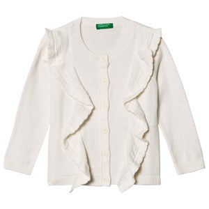 United Colors of Benetton Frill Cardigan Off White 1Y (82cm)