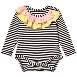 Wauw Capow Anna Baby Body Black/White Striped 80 cm (9-12 mdr)