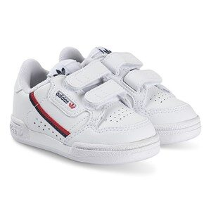 adidas Originals Continental 80 Infants Velcro Sneakers White and Navy 20 (UK 4)