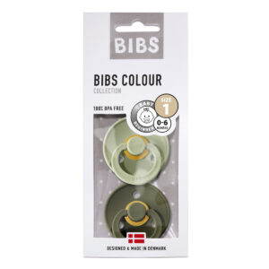 Bibs 2-pak rund sut, str 1 - Sage/Hunter Green