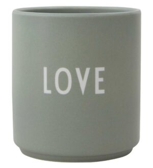 Design Letters Kop - Favourite Cups - Love Dad - Støvet Grøn