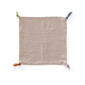 Kids Concept Linen Blanket with knots 0 - 3 years