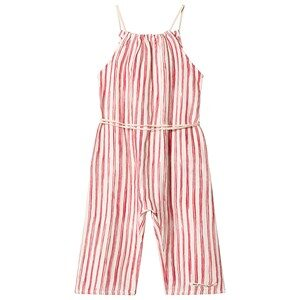 Little Creative Factory Bamboo Striped Jumpsuit Rød/Hvid 12 years