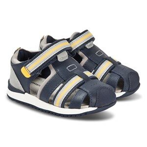 Mayoral Navy and Yellow Stripe Velcro Strap Sandals 24 (UK 7)