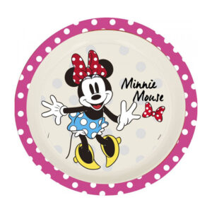 Minnie Mouse bambus tallerken, stor Minnie