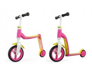 Scoot&Ride 2 i 1 løbehjul/løbecykel - Highwaybaby - Pink/Gul