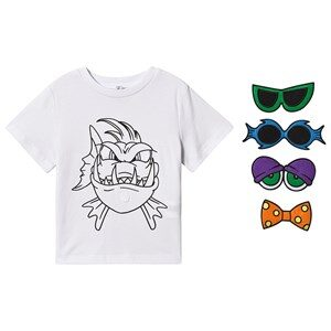 Stella McCartney Kids Funny Face Angry Fish T-shirt Grå 2 years