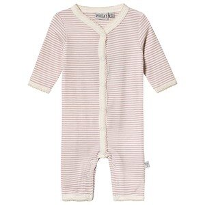 Wheat Plain Wool Jumpsuit Striped Fawn 56 cm (1-2 mdr)