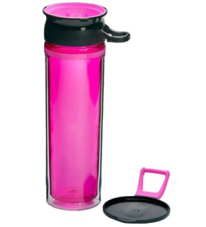 Wow Cup Drikkedunk - Tritan - 600 ml - Pink/Sort