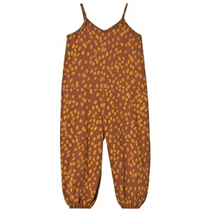 Bobo Choses Animal Print Jersey Jumpsuit Mocha Bisque 2-3 Years