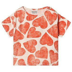 Bobo Choses Hearts Bluse Turtledove 6-12 Months