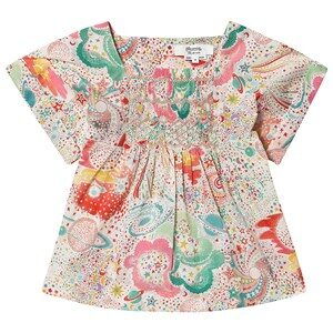 Bonpoint Constellation Liberty Print Smocked Blouse 4 years