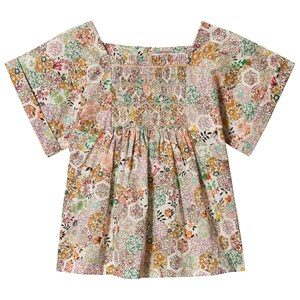 Bonpoint Multi Floral Liberty Print Smocked Blouse 4 years