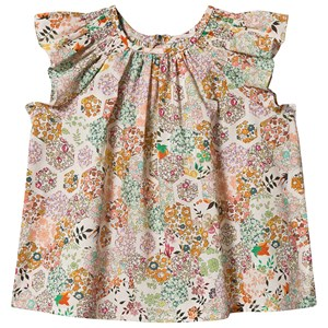 Bonpoint Multi Floral Liberty Ruffle Sleeve Blouse 12 months