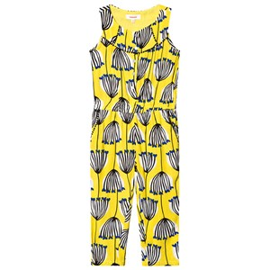 Catimini Yellow Floral Jumpsuit 3 years