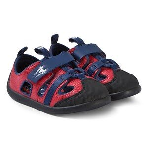 Clarks Red and Blue Spiderman Sandals 22 (UK 5.5)