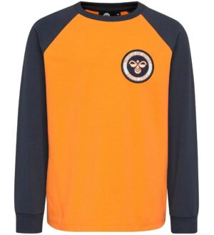 Hummel Bluse - Hahn - Orange/Navy m. Logo