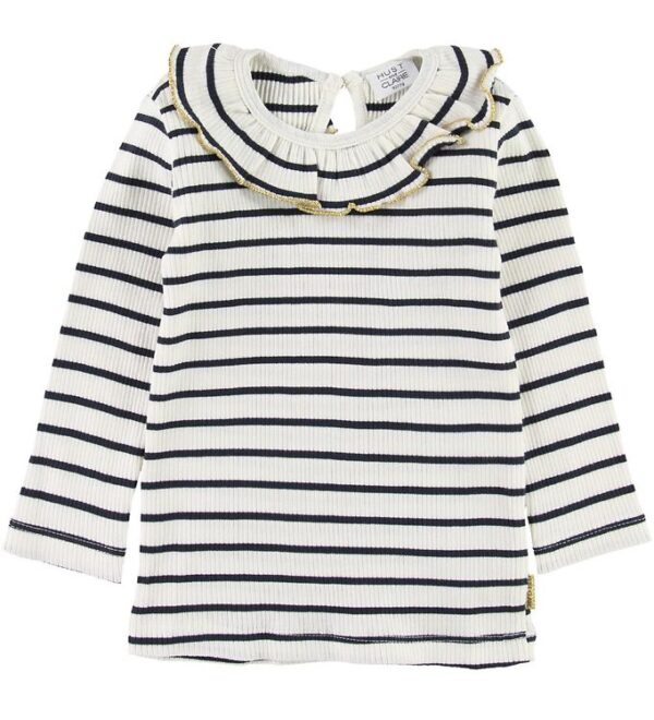 Hust and Claire Bluse - Alma - Hvid/Navy