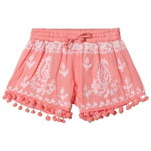 Melissa Odabash Coral Embroidered Pom Pom Shorts 2 years