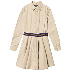 Ralph Lauren Polo Player Belted Kjole Tan 7 years