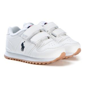 Ralph Lauren White Tumbled Leather Velcro Oryion EZ Sneakers 28 (UK 11)